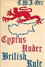 CYPRUS UNDER BRITISH RULE with map
