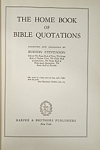 THE HOME BOOK OF BIBLE QUOTATIONS