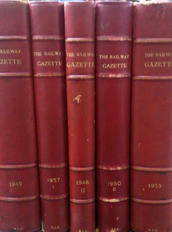 THE RAILWAY GAZETTE & OVERSEAS RAILWAYS - A journal of management, engineering and operation (1948-1963)